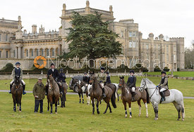 The Lee Family at the meet at Grimsthorpe Castle