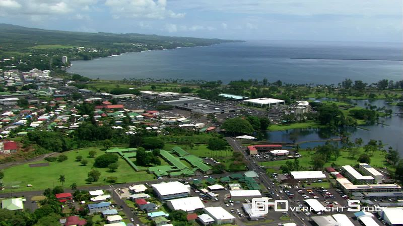 Looking seaward from above Hilo, Hawaii