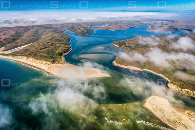 Fog Over Drakes Bay. Point Reyes National Seashore California