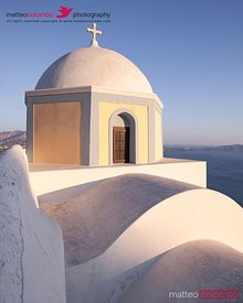 Famous orthodox church in Santorini, Greece