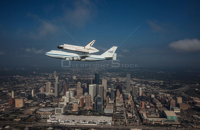 Space Shuttle Endeavour Over Houston, Texas -- September 19, 2012 -- Space Shuttle Endeavour is ferried by NASA's