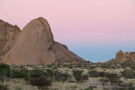 Rock spire at dawn