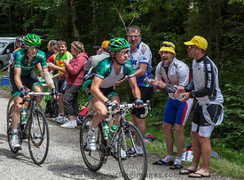 Cyclists Climbing Col du Granier - Tour de France 2012