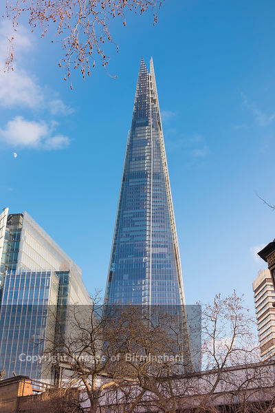 The Shard, also referred to as the Shard of Glass, Shard London Bridge and formerly London Bridge Tower is an 87-storey skyscraper in London that forms part of the London Bridge Quarter development.