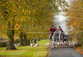Andrew Osborne MFH and the Cottesmore hounds - Cottesmore Hunt Opening Meet, 30/10/12