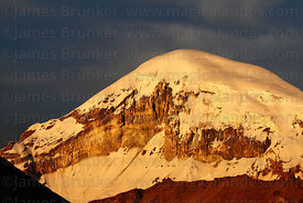 Sajama volcano seen from south-west, Sajama National Park, Bolivia