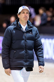 Bordeaux, France, 3.2.2018, Sport, Reitsport, Jumping International de Bordeaux - LONGINES FEI WORLD CUP™ JUMPING. Bild zeigt Andrew Kocher...3/02/18, Bordeaux, France, Sport, Equestrian sport Jumping International de Bordeaux - LONGINES FEI WORLD CUP™ JUMPING. Image shows Andrew Kocher.