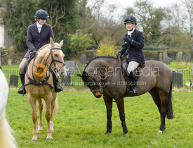 Amber Hoskins, Abbie Weatherstone at the meet at Farriers Forge