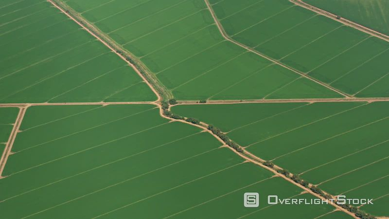 California Aerial view of beautiful green farmlands.  Shot with Cineflex and RED EpicW Helium.