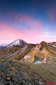 Ngauruhoe volcano (Mt Doom) at dawn, Tongariro, New Zealand