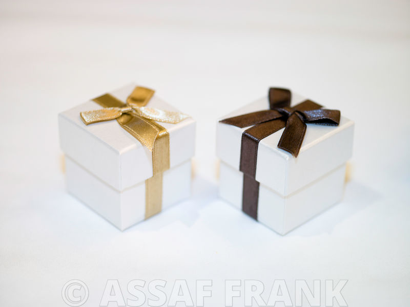 Close-up of gift boxes