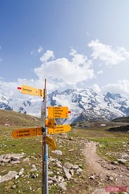 Signs in the swiss alps, Zermatt, Switzerland