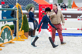 Paris, France, 17.3.2018, Sport, Reitsport, Saut Hermes - .PRIX GL Events Bild zeigt Edwina Tops Alexande, Jan Tops...17/03/18, Paris, France, Sport, Equestrian sport Saut Hermes - PRIX GL Events. Image shows Edwina Tops Alexande, Jan Tops.