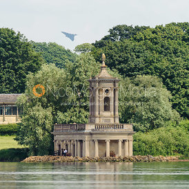 Vulcan Bomber XH558 practising for Summer Shows over Normanton Church, Rutland Water.