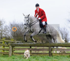 Oliver Beazley jumping a hunt jump from the meet