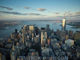 Aerial photograph of New York City Financial District