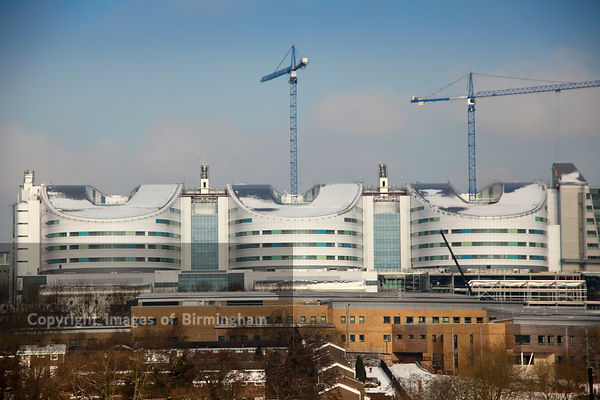 New QE Hospital under construction in Selly Oak, birmingham.