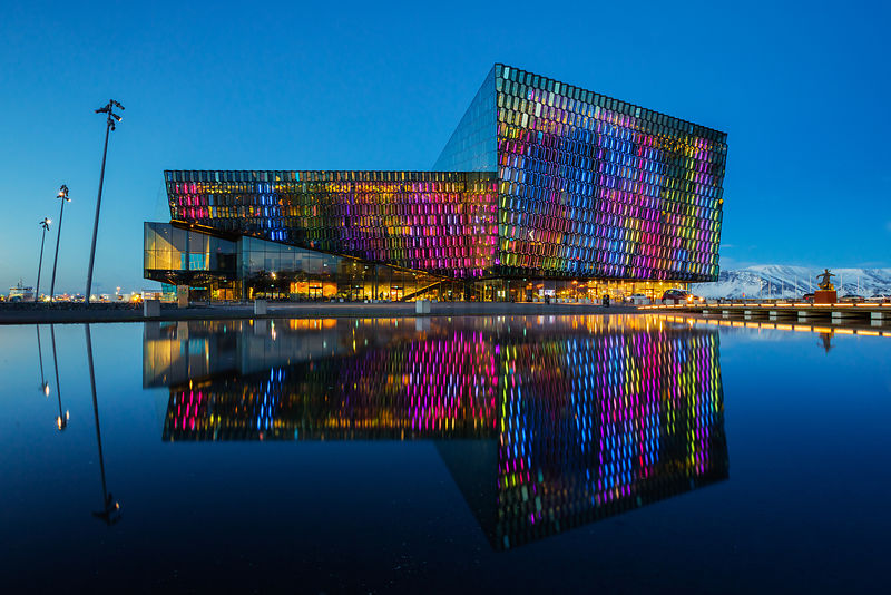 Harpa Concert and Conference Hall at Dusk