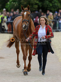 Pippa Funnell and REDESIGNED - First Horse Inspection, Mitsubishi Motors Badminton Horse Trials 2014