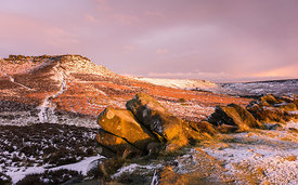 Winter sunrise at Higger Tor