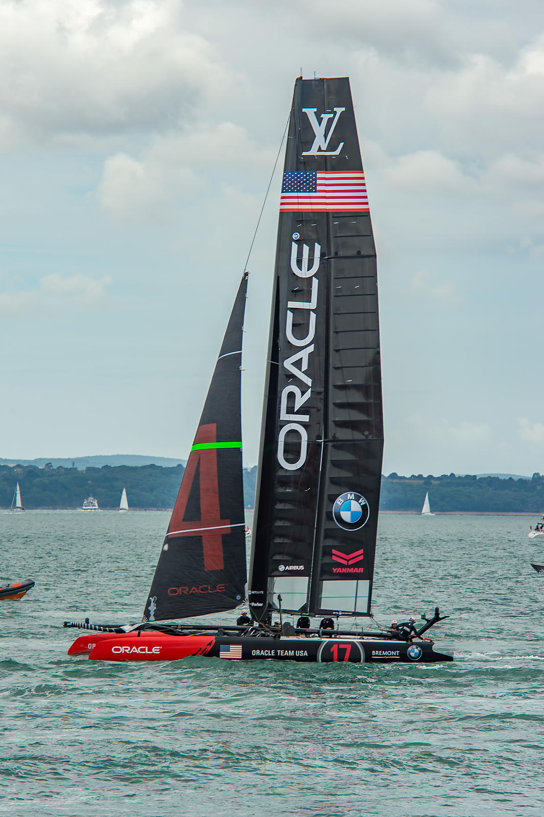 Team Oracle USA at Portsmouth 2015 America's Cup