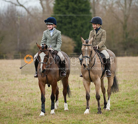 Members of the Cottesmore at the meet in Langham