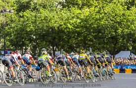 Team Sky in Paris - Tour de France 2016