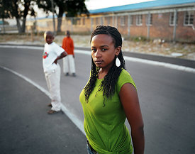 Black woman, Gugulethu, Cape Town
