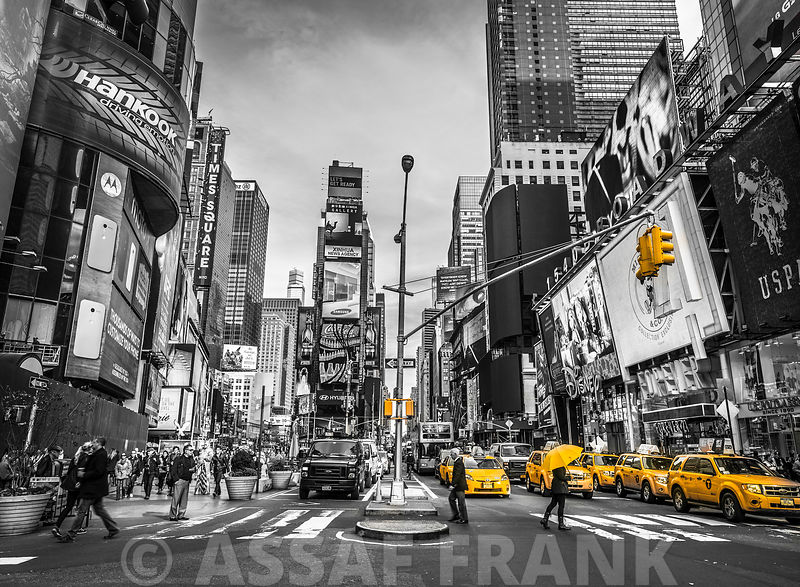 Traffic signal on broadway Times Square,  Manhattan, New York City