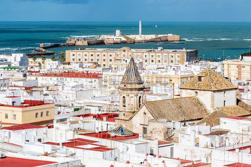 Cadiz, View from Torre Tavira, Andalusia, Spain
