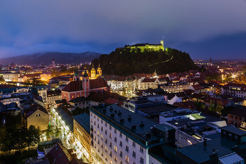 A Rainy Evening in Ljubljana
