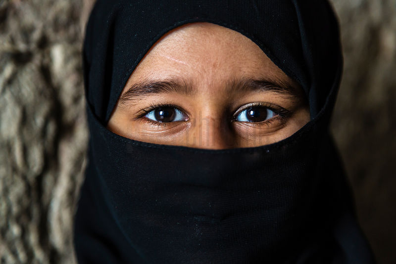 Portrait of a Young Girl with her Face Covered