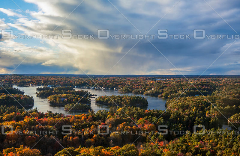 Thousand Islands, Ontario, Canada, autumn colours, St. Lawrence River