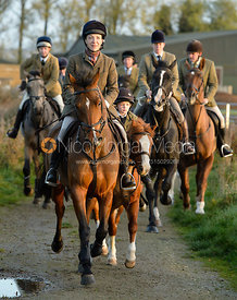 Lisa Ashmore leaving the meet - The Cottesmore Hunt at the kennels 21/10