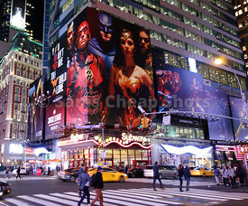 Justice League Billboard, Times Square, NYC 2017