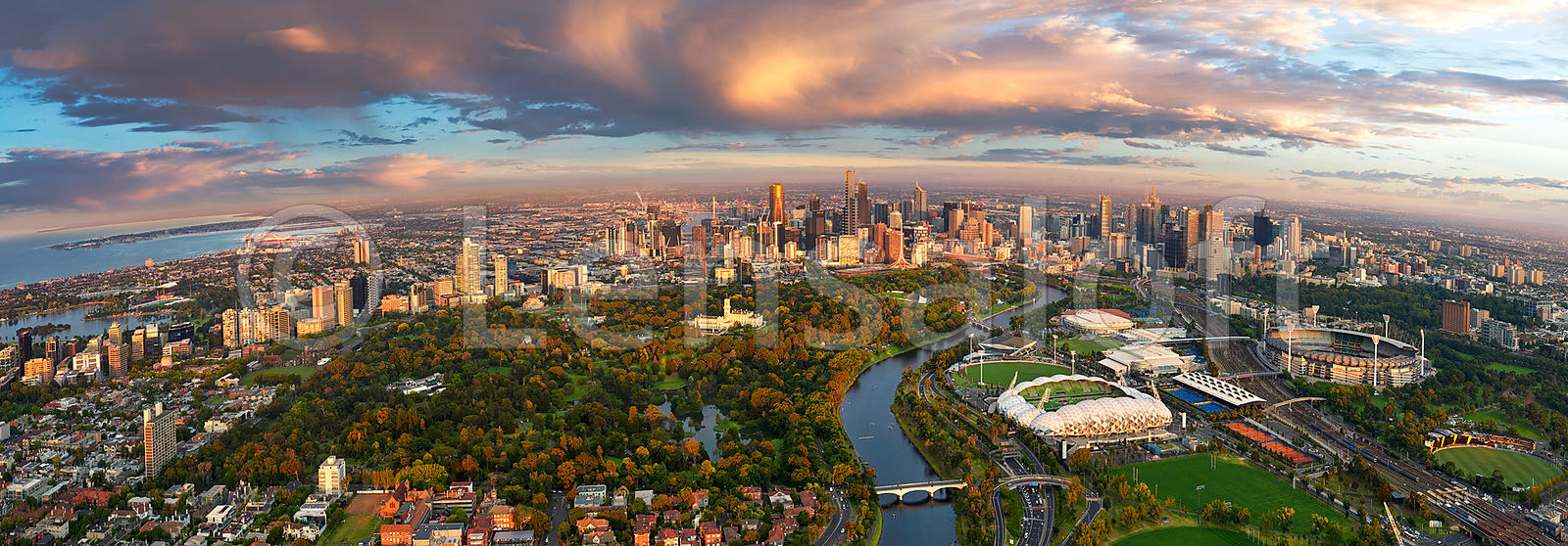 Melbourne Sunrise Panorama