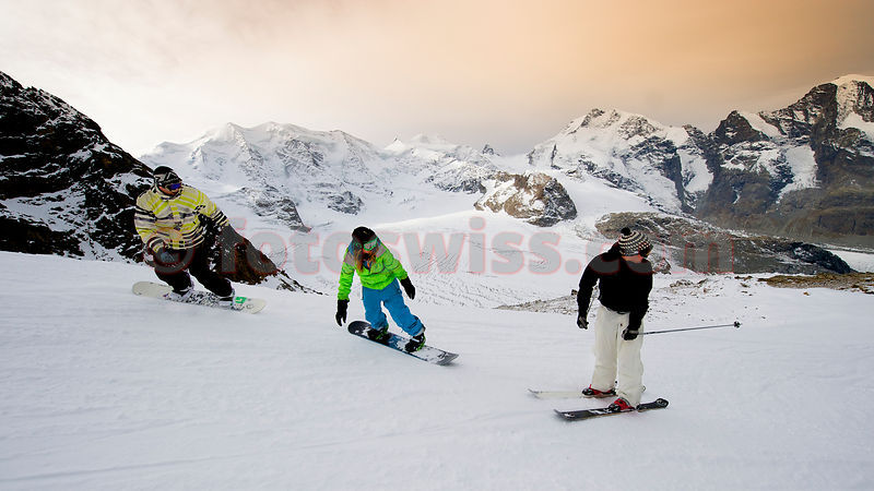 Snowboard Diavolezza Mountain Resort Engadin photos