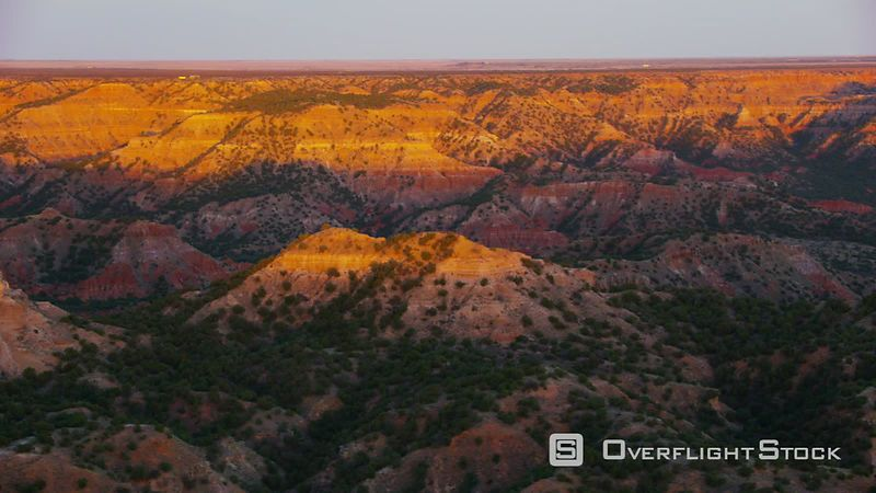 Palo Duro Canyon at sunset in Amarillo, Texas
