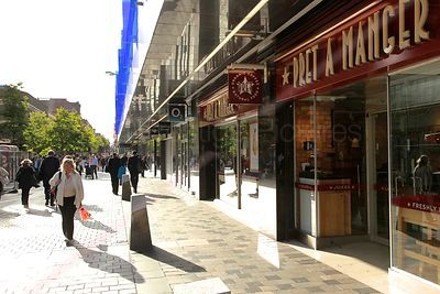 Shoppers in Glasgow's main Shopping area - Sauchiehall Street