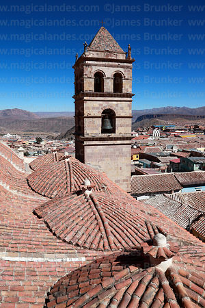View over Potosí from San Francisco church roof, Bolivia