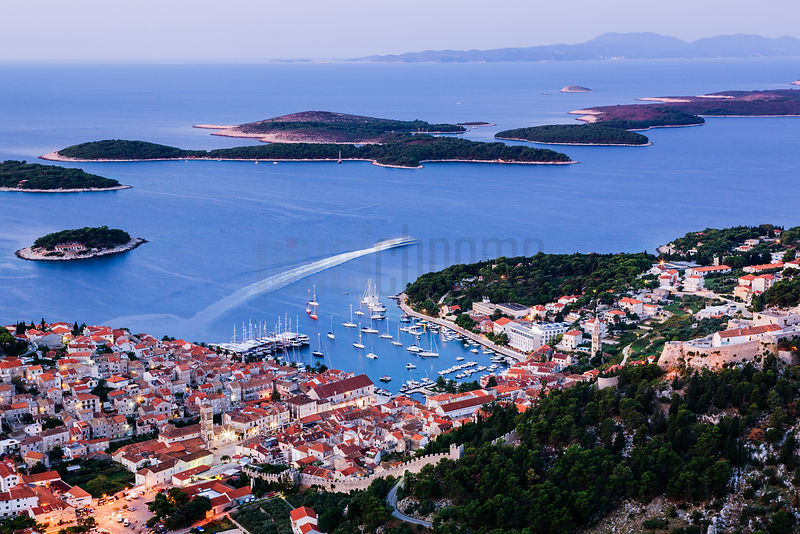 Elevated View of Hvar Town at Dawn