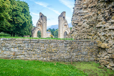 Glastonbury Abbey Church From Lady Chapel- Glastonbury, England