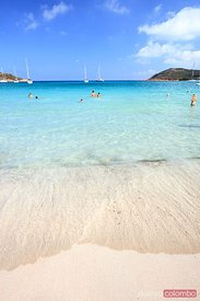 Beach in summer, Corsica, France