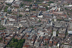 Preston aerial photograph of Fishergate and the town centre