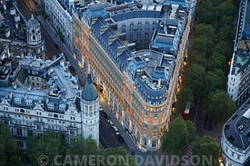 Aerial photograph of Corinthia Hotel, London,