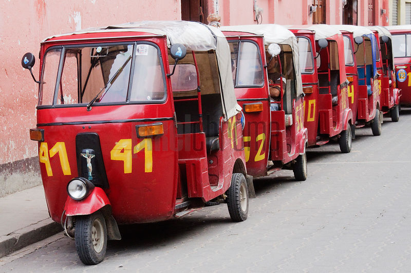 Line of Tuk Tuk Taxis