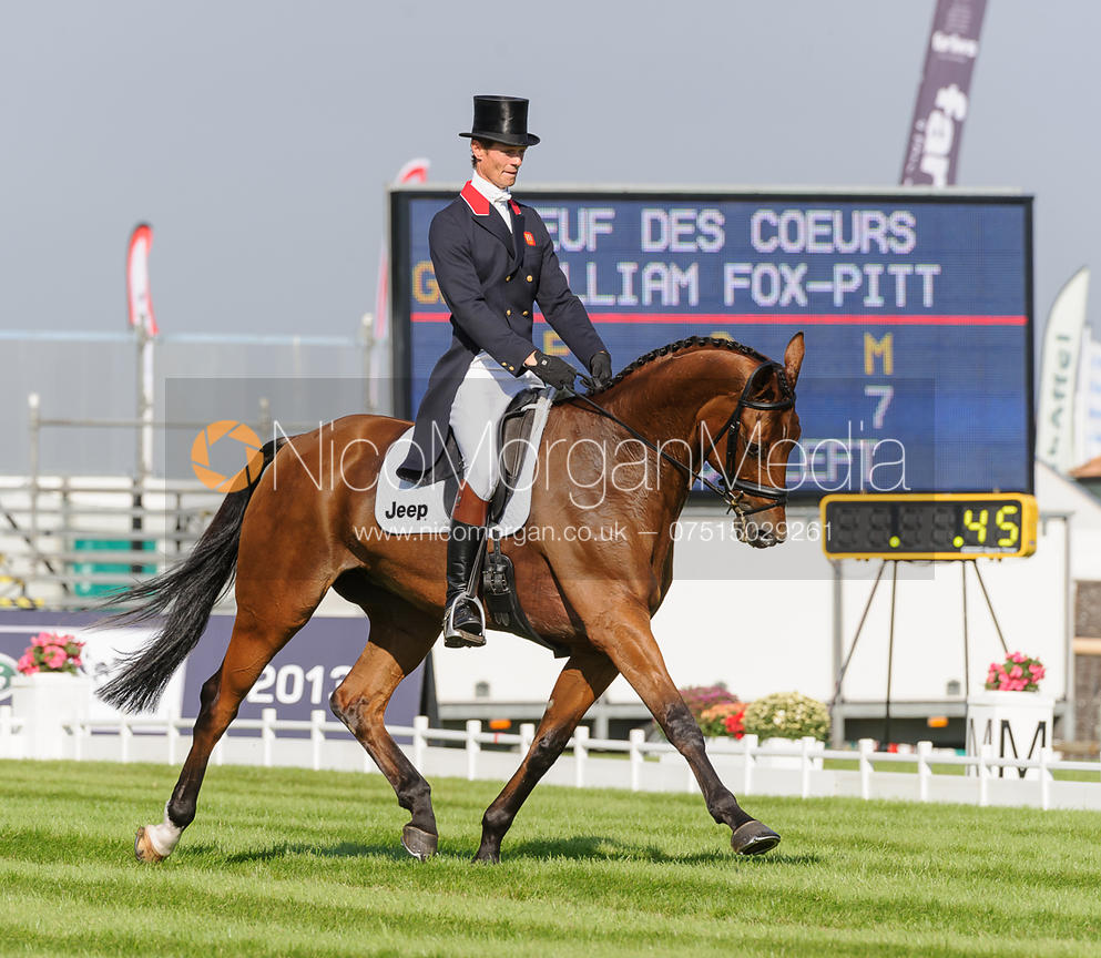 William Fox-Pitt and NEUF DES COEURS - dressage phase,  Land Rover Burghley Horse Trials, 5th September 2013.