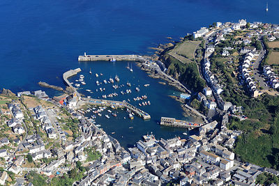 Mevagissey Cornwal aerial photograph