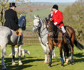 Nicholas Leeming MFH at the meet at Preston Hall