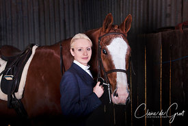 Equestrian sports portrait